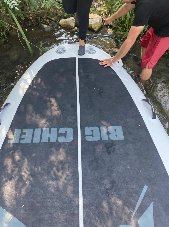 Apéroter sur un paddle ardèche