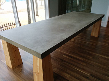 gray colored concrete table top