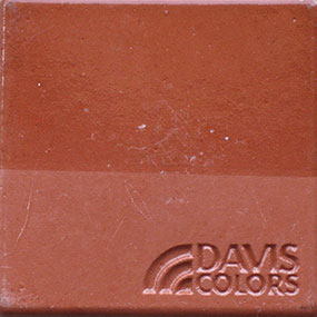 brick red concrete color chip