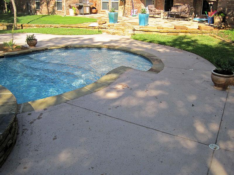 salt finish pool deck