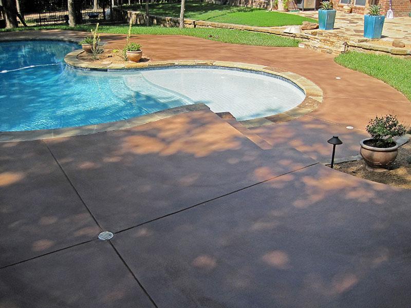 pool deck with skim coat on it