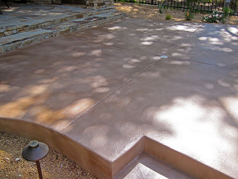 another view of skim coated step
