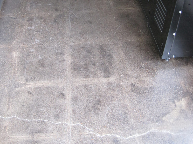 closeup of tile ghost image