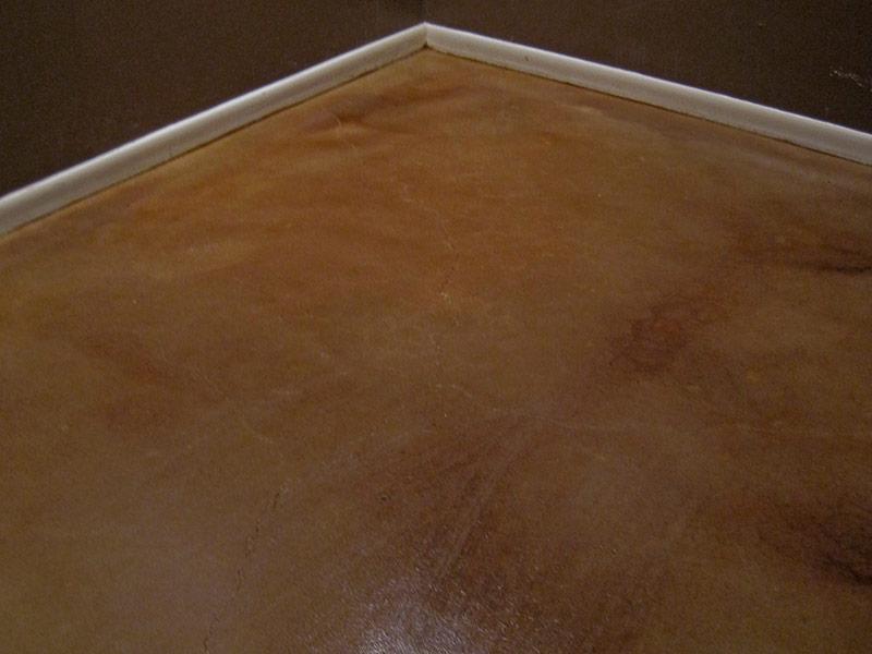 sanded acid stained floor