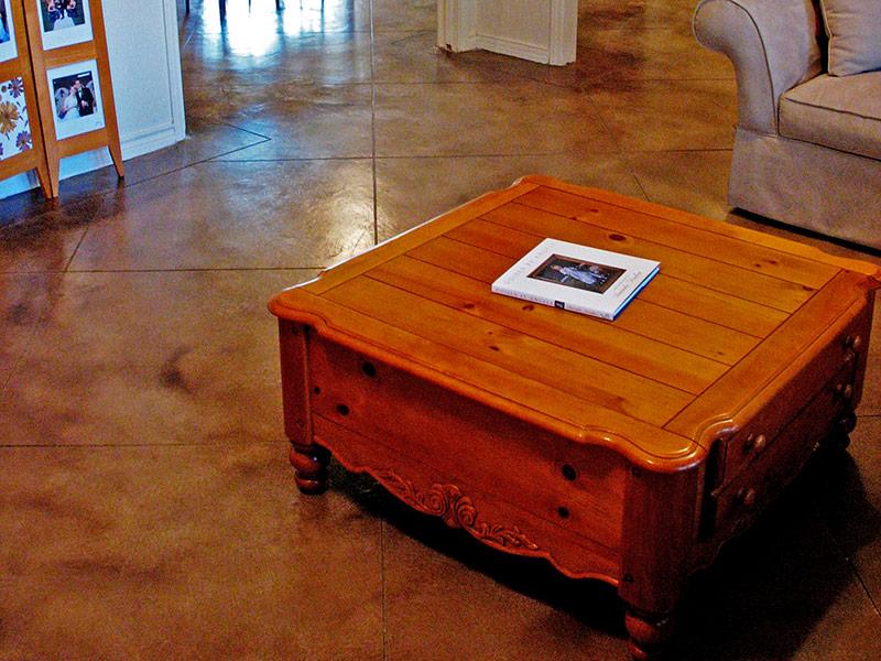 microfinish overlay floor-brown