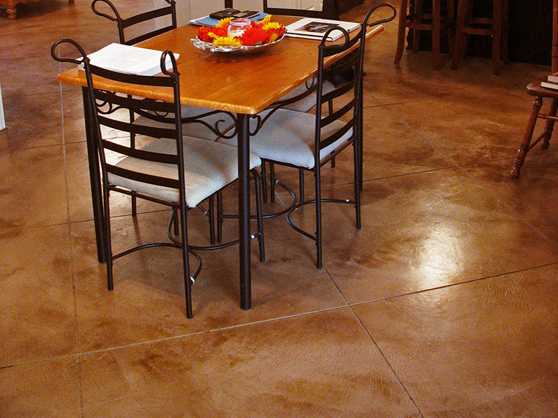 another view of dining table on microfinish overlay