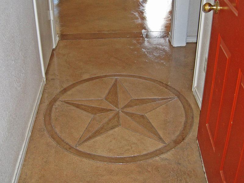 star of texas scored into floor