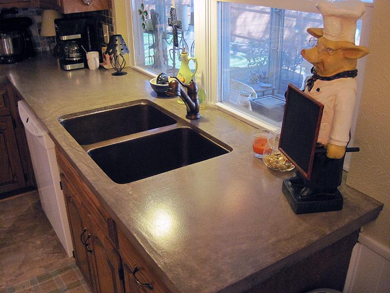 kahlua brown kitchen countertop