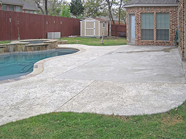 ugly concrete patio