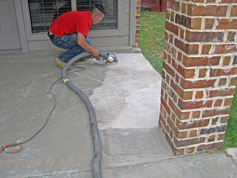 grinding the floor prior to applying overlay