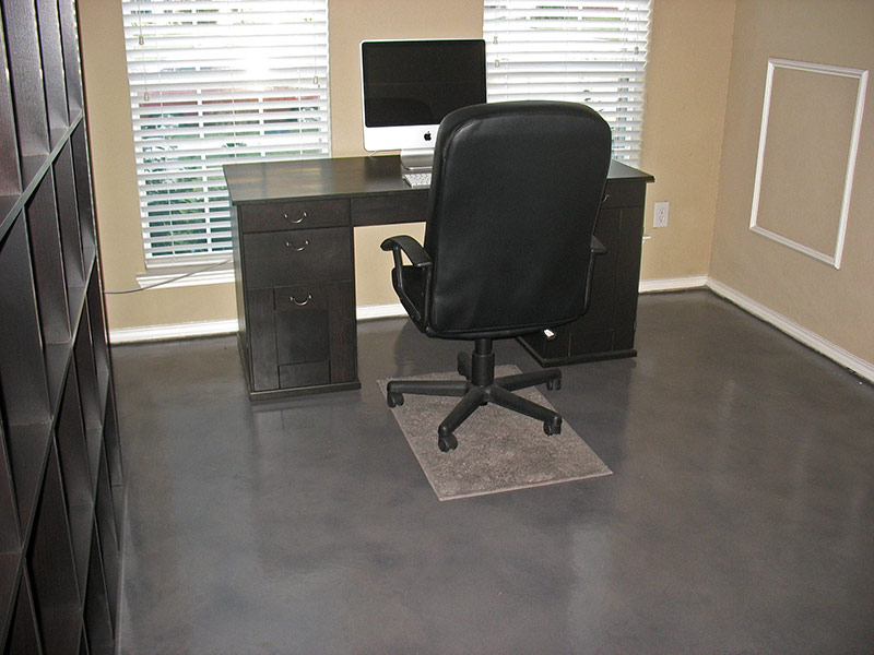 desk and chair on gray microfinish overlay