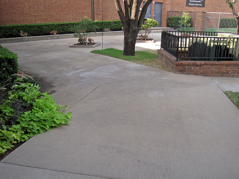 view of the church open area before skim coating