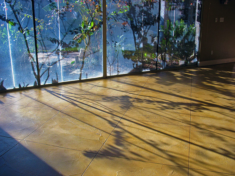 shadows on trowel down overlay