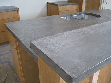 gray colored concrete countertop