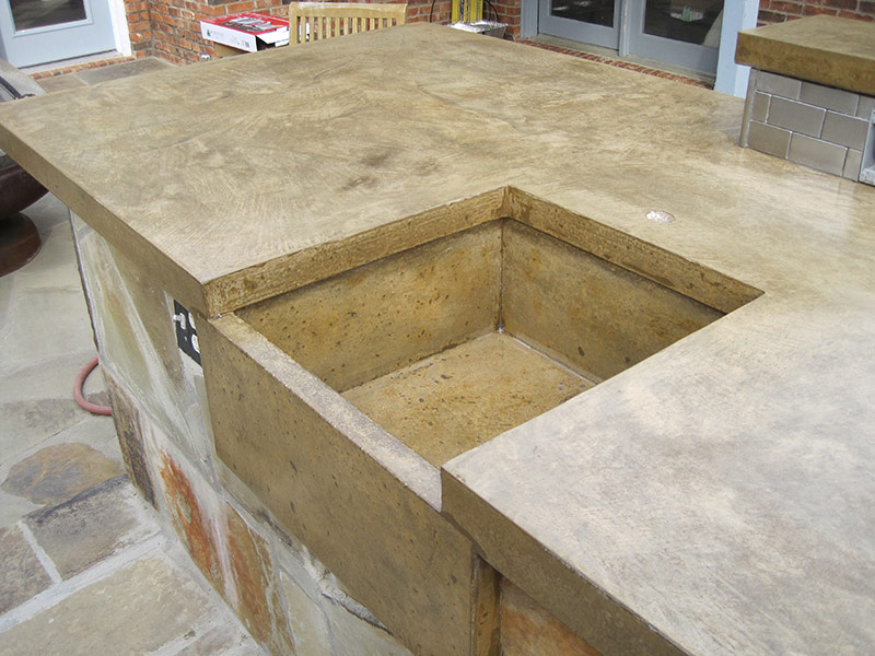 another view of concrete sink