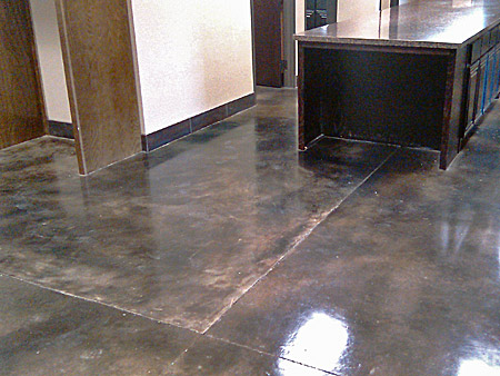 microfinish overlay with stain