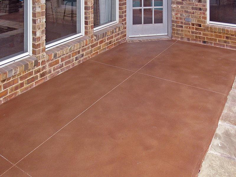 patio that has the skim coat overlay on it
