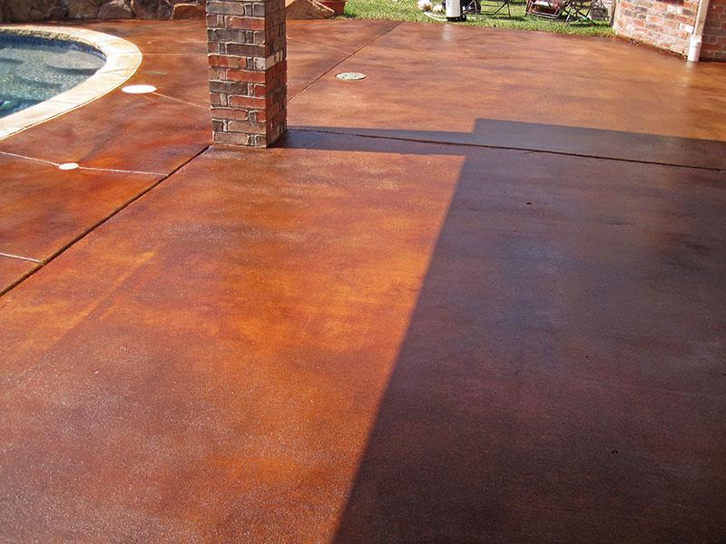 pool deck after sealing