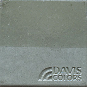 willow green color concrete chip