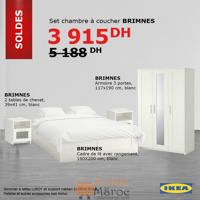 Soldes Ikea Maroc Set Chambre à Coucher Brimnes 3915dhs