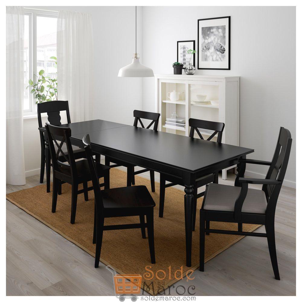 Soldes Ikea Maroc Table Extensible Ingatorp Noir 3795dhs Au