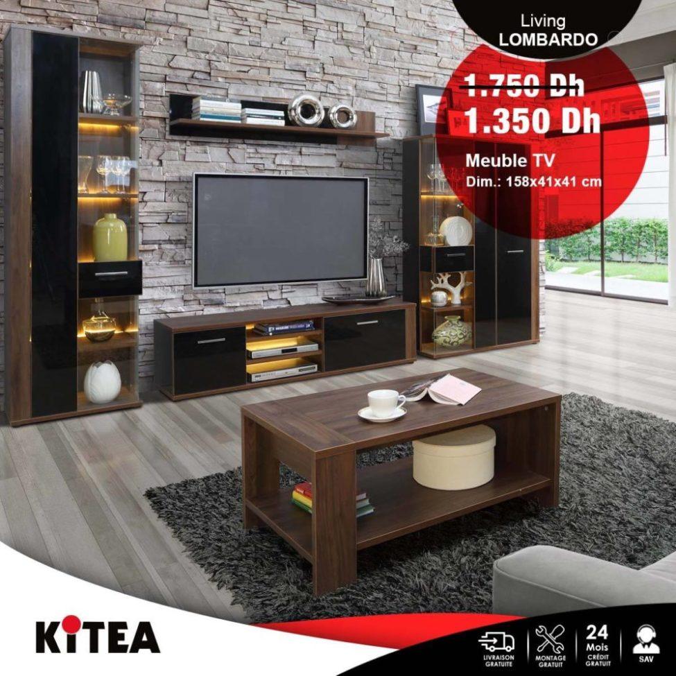 soldes kitea meuble tv lombardo 1350dhs