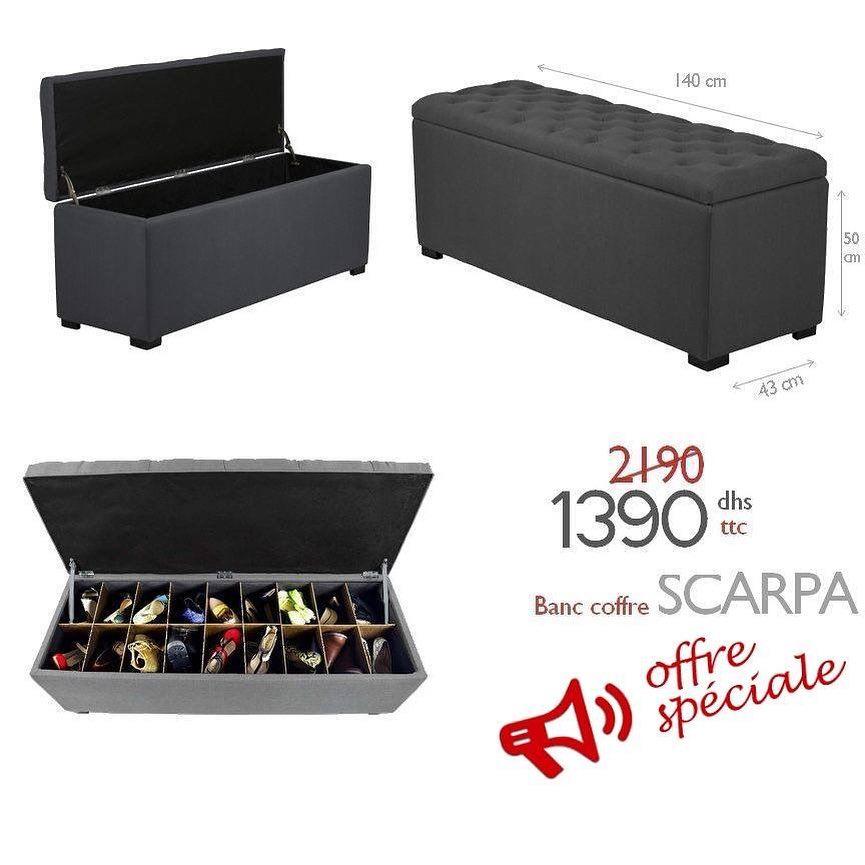 Soldes Azura Home Banc Coffre A Chaussure Scarpa 1390dhs Au Lieu De 2190dhs
