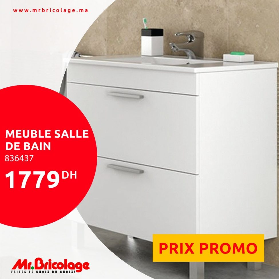 Prix Promotionnel Mr Bricolage Maroc Meuble Salle De Bain 1779dhs