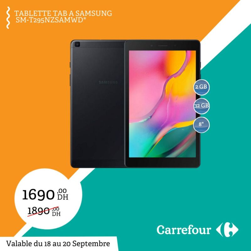 soldes carrefour maroc tablette tab a