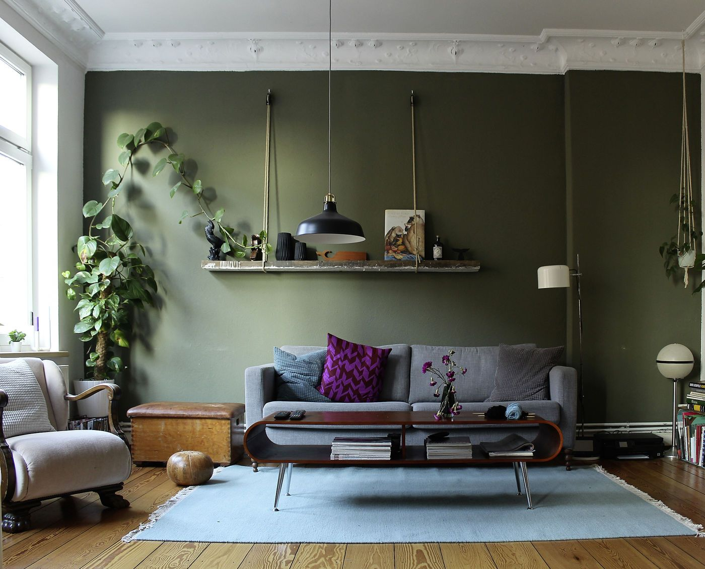 Wandfarben Wohnzimmer Grun