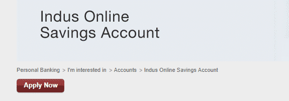 Indus Online Savings Account
