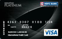 HDFC Bank Easyshop Platinum Debit Card