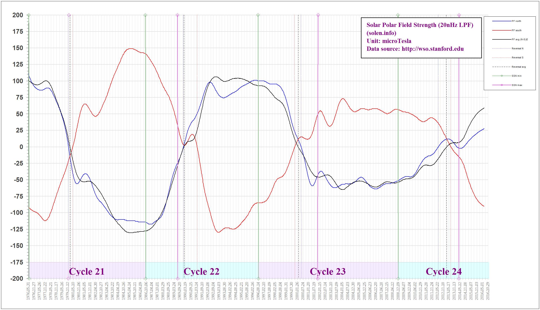 solar polar field timeseries