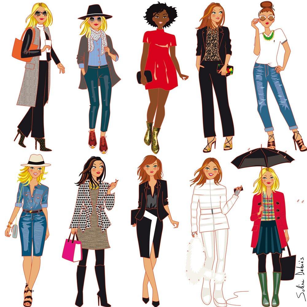 Illustrateur De Mode Solne Debis Le Style Et La Mode