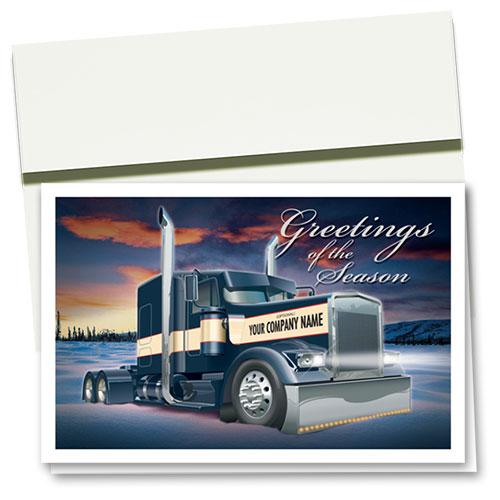 Trucking Christmas Cards Wonderful Winter Trucking