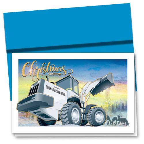 Premium Foil Construction Christmas Cards Morning Loader