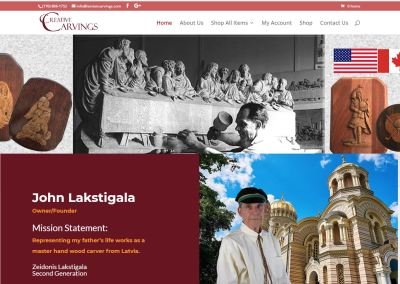 Solia Media Designs Latvian Carvings' Website Commerce Site!