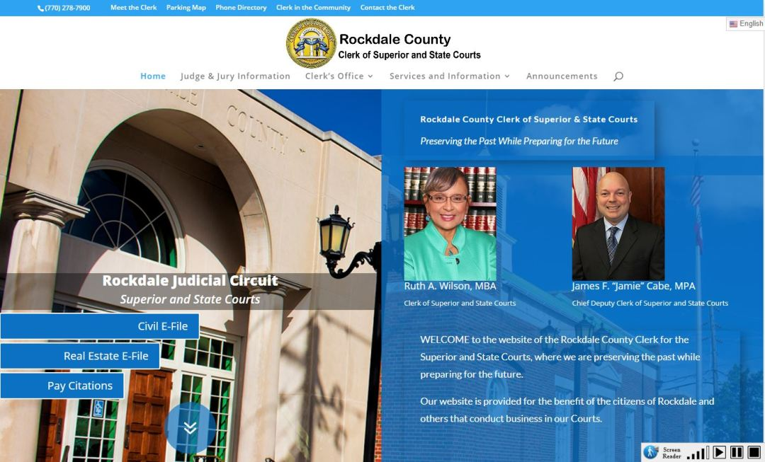 Solia Media Designs Site for the Rockdale County Clerk of Courts