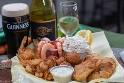 Fish Plate - Shrimp Scallops - Celtic Tavern of Olde Town Conyers - Solia Media Food Photography