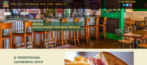 Solia Redesigns Website for the Famous Celtic Tavern of Conyers