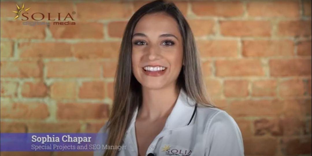 Best SEO Services Solia Media - Sophia Chapar SEO Manager