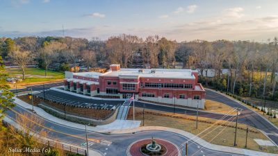 Conyers Georgia New City Hall Aerial - By Solia Media Drone Services