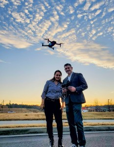 Solia Founder and FAA Licensed Drone Pilot Nadine Kirma Chapar with FAA Certified Pilot Albert Chapar - Metro Atlanta Licensed Drone Services