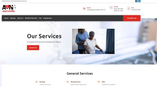 Solia Media Designs and Hosts New Website for Angie's Nursing Services