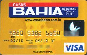 Solicitar cartão casas bahia