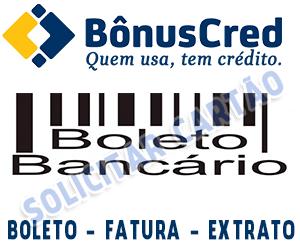 Saldo - Extrato - Boleto e Fatura Cartão BônusCred