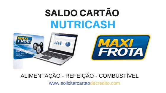 SALDO EXTRATO CARTÃO NUTRICASH
