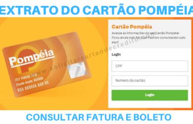 FATURA, EXTRATO E BOLETO CARTÃO POMPÉIA