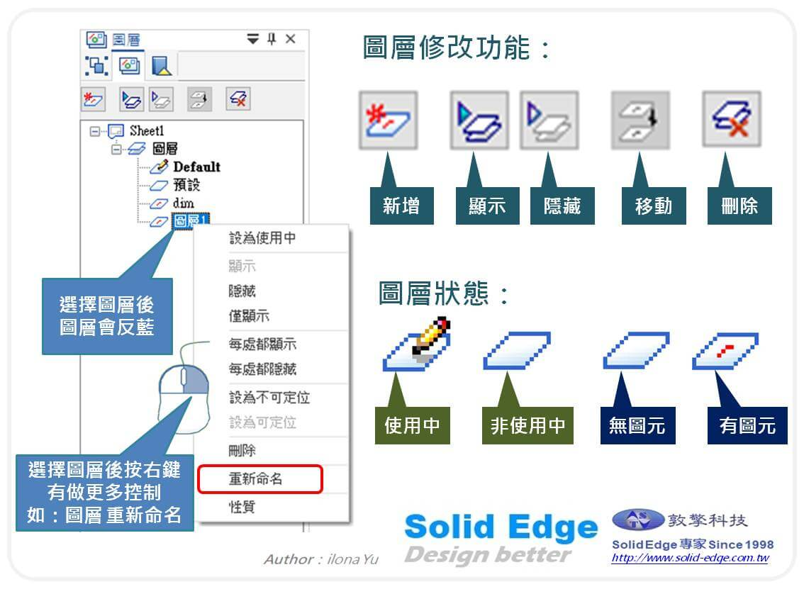 Solid Edge工程圖圖層功能