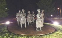 A statue commemorating the nine African-American children who integrated Little Rock Central High School in Little Rock, AR. It is the first Civil Rights monument located on any state capitol grounds in the south.